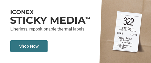 Iconex Sticky Media is now available at ThermalRoll.com
